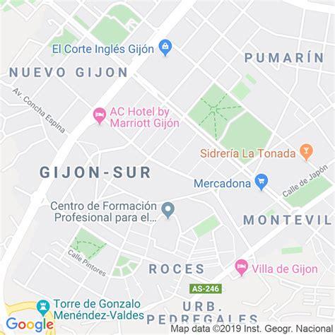 Código Postal calle Les Cigarreres en Gijón ...