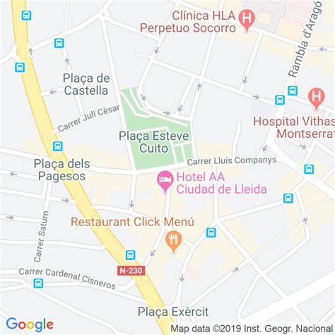 Código Postal calle Lluis Companys en Lleida ...