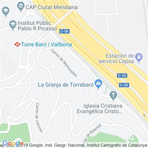 Código Postal calle Martorelles en Barcelona ...