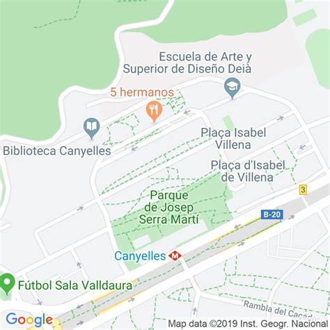 Código Postal calle Miguel Hernandez en Barcelona ...
