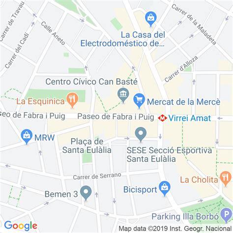 Código Postal calle Miquel Ferra en Barcelona ...