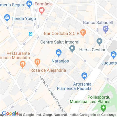 Código Postal calle Naranjos en Hospitalet de Llobregat,l ...