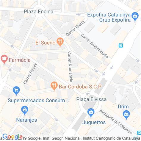 Código Postal calle Numancia en Hospitalet de Llobregat,l ...