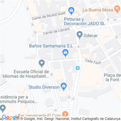 Código Postal calle Oriental en Hospitalet de Llobregat,l ...