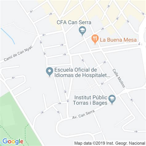 Código Postal calle Pere Pelegri en Hospitalet de ...