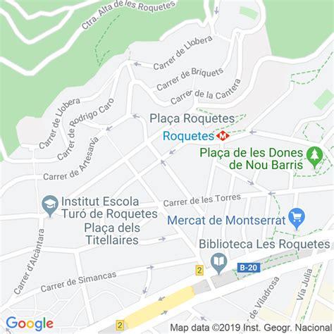 Código Postal calle Pla De Fornells, Del en Barcelona ...