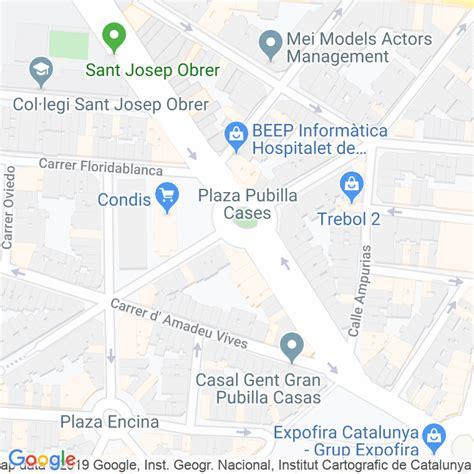 Código Postal calle Pubilla Cases, plaça en Hospitalet de ...