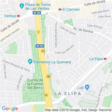 Código Postal calle Ricardo Ortiz en Madrid ...
