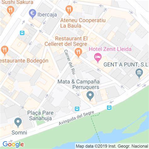 Código Postal calle Riu en Lleida   Codigopostalde.es