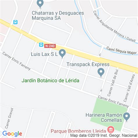 Código Postal calle Riu Garona, Del en Lleida ...