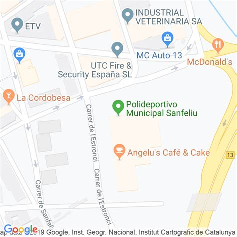 Código Postal calle Sanfeliu en Hospitalet de Llobregat,l ...
