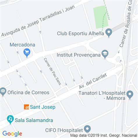 Código Postal calle Sant Eugeni en Hospitalet de Llobregat ...