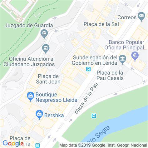 Código Postal calle Santa Marta en Lleida   Codigopostalde.es
