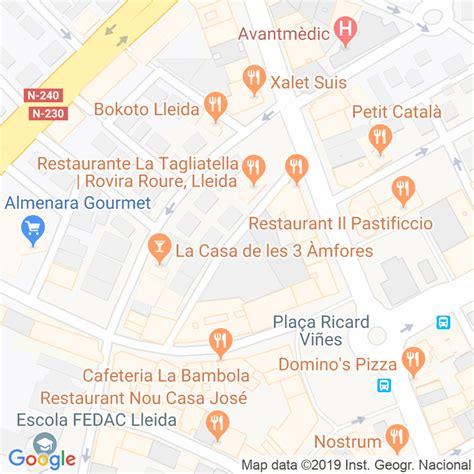 Código Postal calle Serra De Prades en Lleida ...