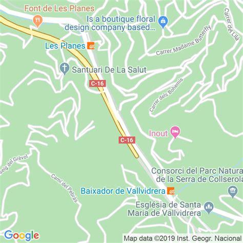 Código Postal calle Vallvidrera A Les Planes, De ...