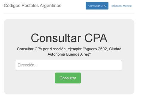 Código postal de Argentina ¿Cómo saberlo paso a paso ...