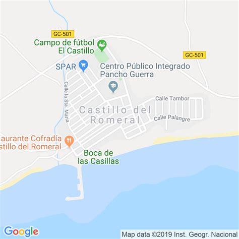 Código Postal de Castillo Del Romeral en Las Palmas ...