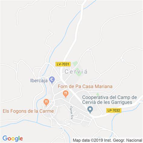 Código Postal de Cervia De Les Garrigues en Lleida ...