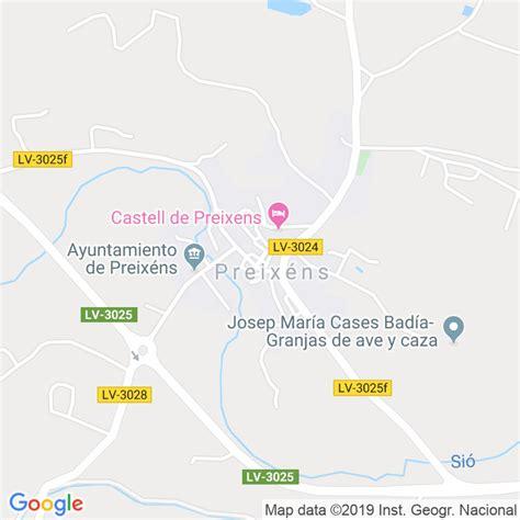 Código Postal de Preixens en Lleida   Codigopostalde.es