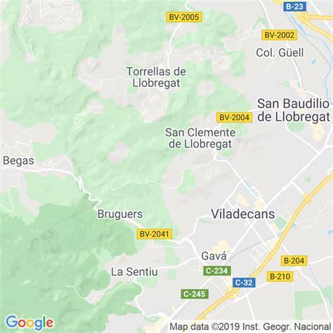 Código Postal de Sant Climent De Llobregat en Barcelona ...