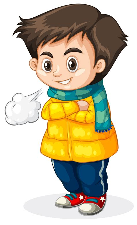 Cold kid white background   Download Free Vectors, Clipart ...