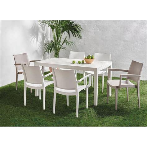 Colección de comedor de jardín con mesa Sumatra y sillón ...