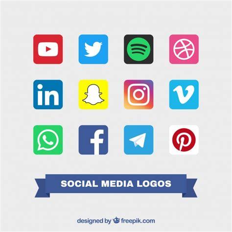 Colección de logos de colores de redes sociales ...