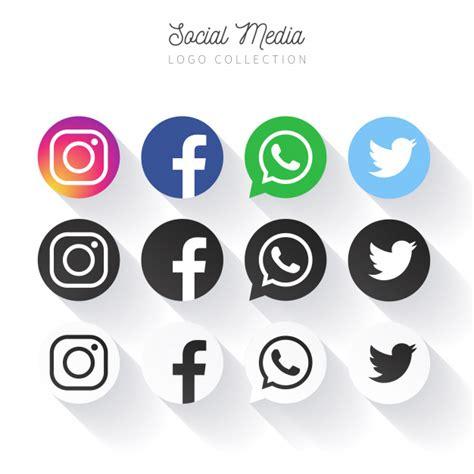 Colección de logos de redes sociales populares en círculos ...