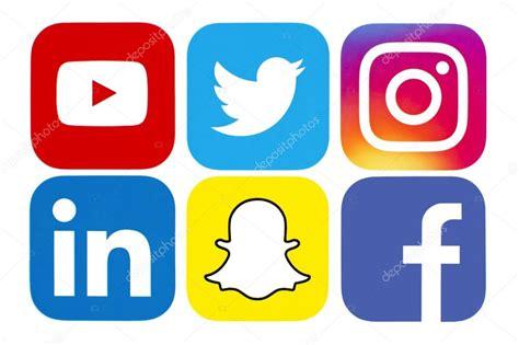 Colección de logos de redes sociales populares — Foto ...