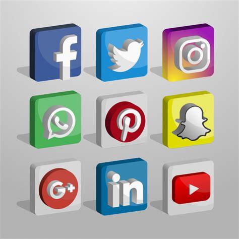 Colección de logotipos de redes sociales en 3d | Descargar ...