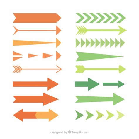 Colección de tipos de flechas en diseño plano | Descargar ...