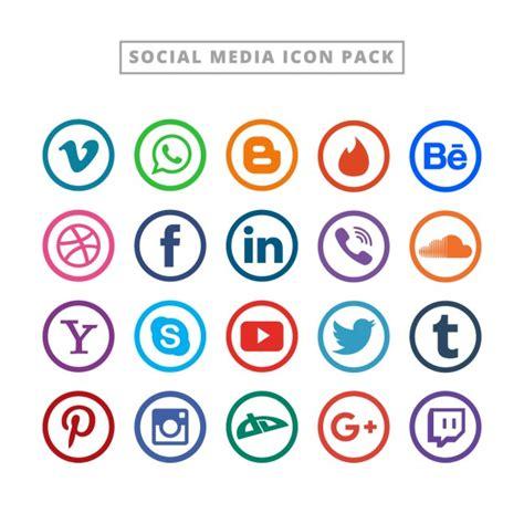 Colección flat de logotipos para redes sociales ...