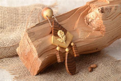 Colgante de madera para cuello artesanal tallado a mano en ...