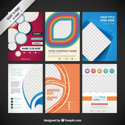 Collection of flyers Vector | Free Download