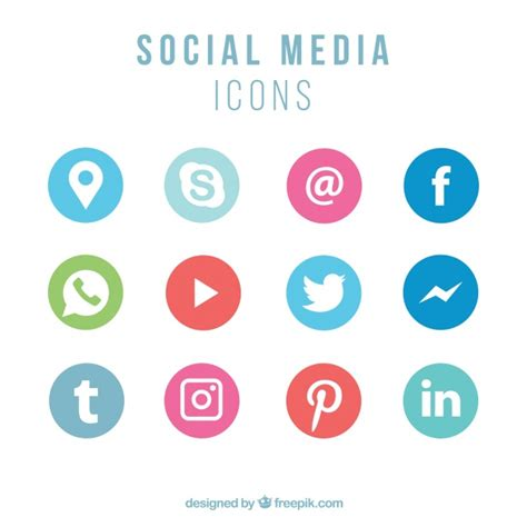 Collezione di icone di social networking   Scaricare ...
