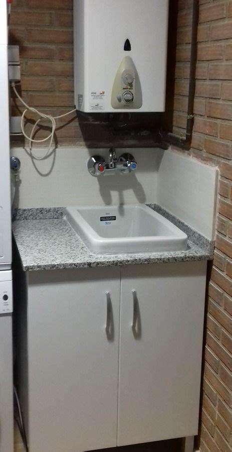 Colocación pila de lavadero | Lavaderos, Muebles de lavabo ...