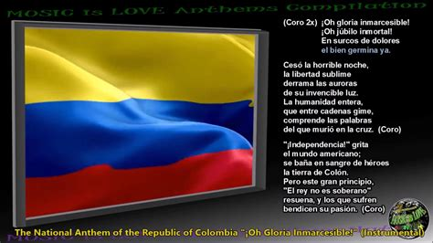 Colombia National Anthem  Oh Gloria Inmarcesible ...