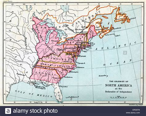 Colonies of North America in 1776, at the United States ...