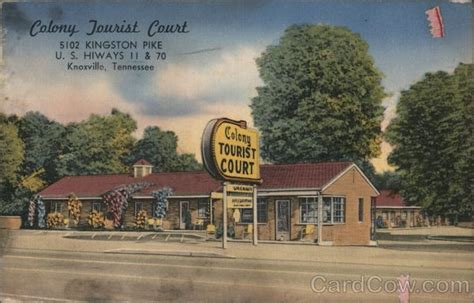 Colony Tourist Court Knoxville, TN Postcard