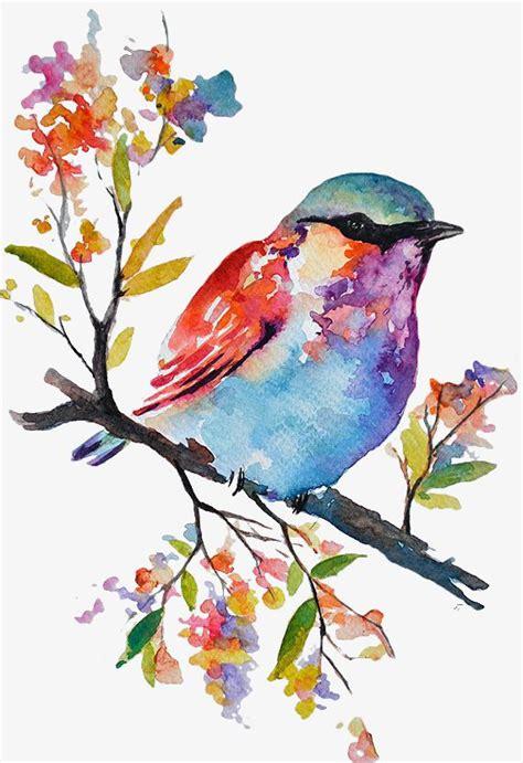 Color Hand Painted Birds in 2020 | Watercolor bird ...