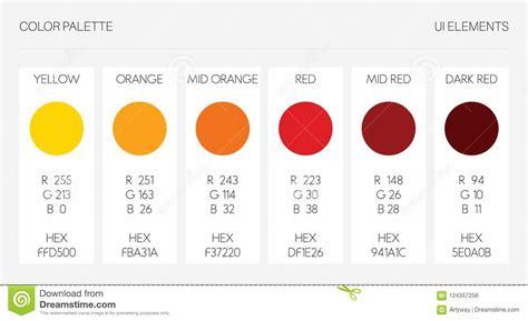 Color Palette, Ui Elements. RGB Vector Illustration ...