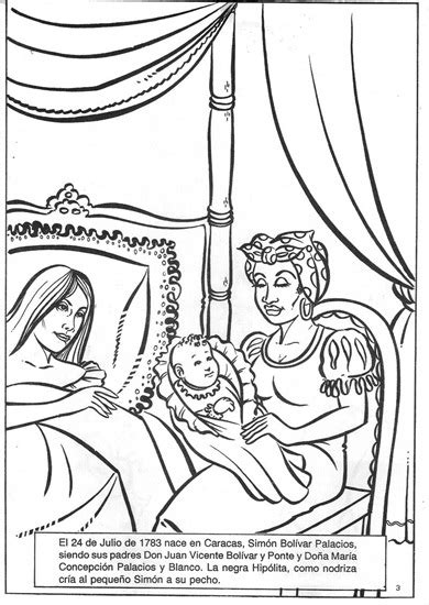 COLOREA TUS DIBUJOS: Nacimiento de Simón Bolívar