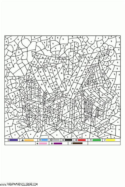 colorear con numeros 021 | Pintura por números, Dibujos ...