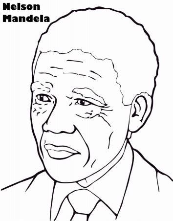 COLOREAR DIBUJO DE NELSON MANDELA