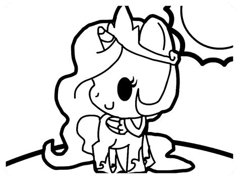 colorear dibujos unicornios –  Dibujo imágenes