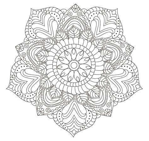 Colorear mandala de flor estilo Maya  Gautama 11/50 ...