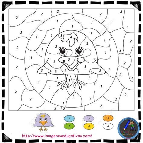 Colorear por números  15    Imagenes Educativas