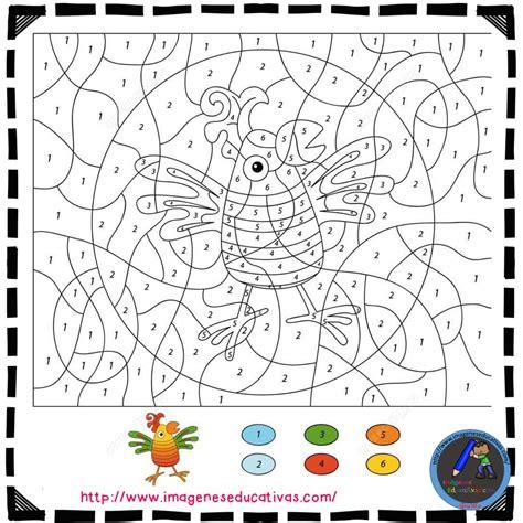 Colorear por números  7    Imagenes Educativas