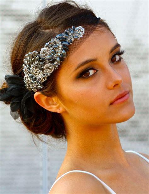 Colored Crystal Mini Hair Bandeau Ebony by DolorisPetunia ...