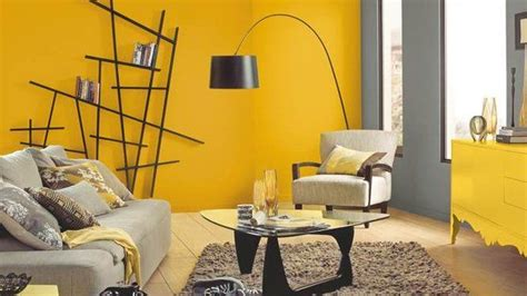 colores de pinturas para paredes de salon gris y amarillo ...